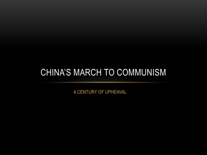 china s march to communism n.