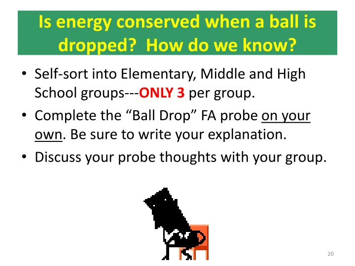 Is energy conserved when a ball is dropped?  How do we know?