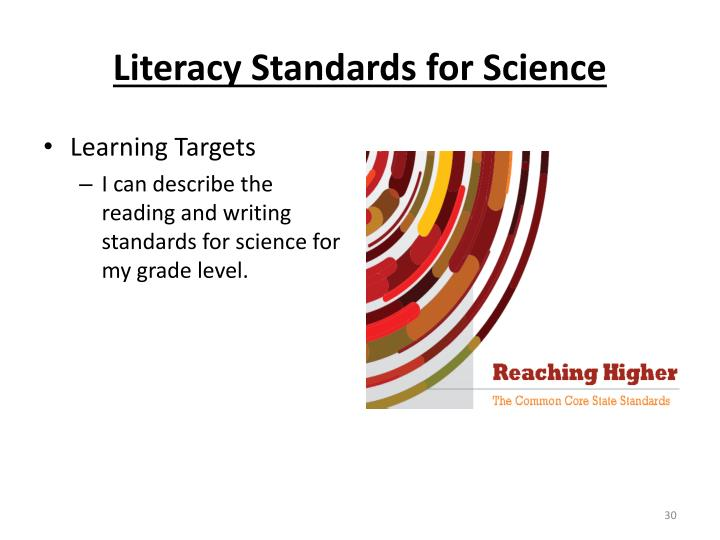 Literacy Standards for Science