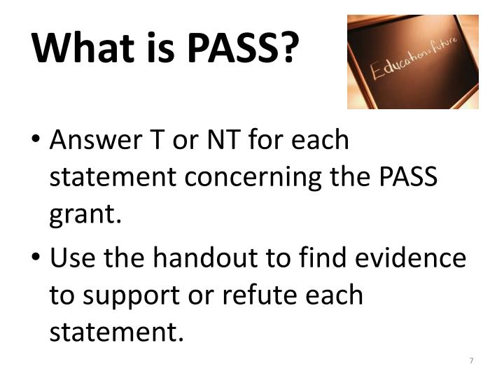 What is PASS?