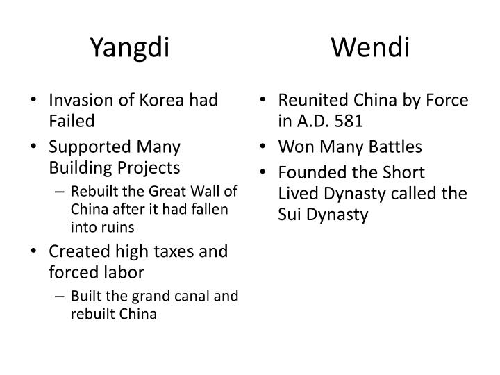 Ppt reigns of yangdi amp wendi venn diagram powerpoint yangdi wendi ccuart Gallery