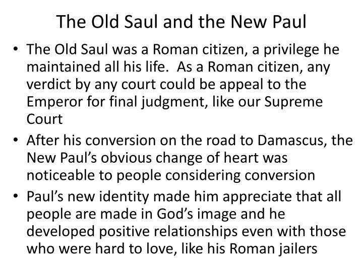 The Old Saul and the New Paul
