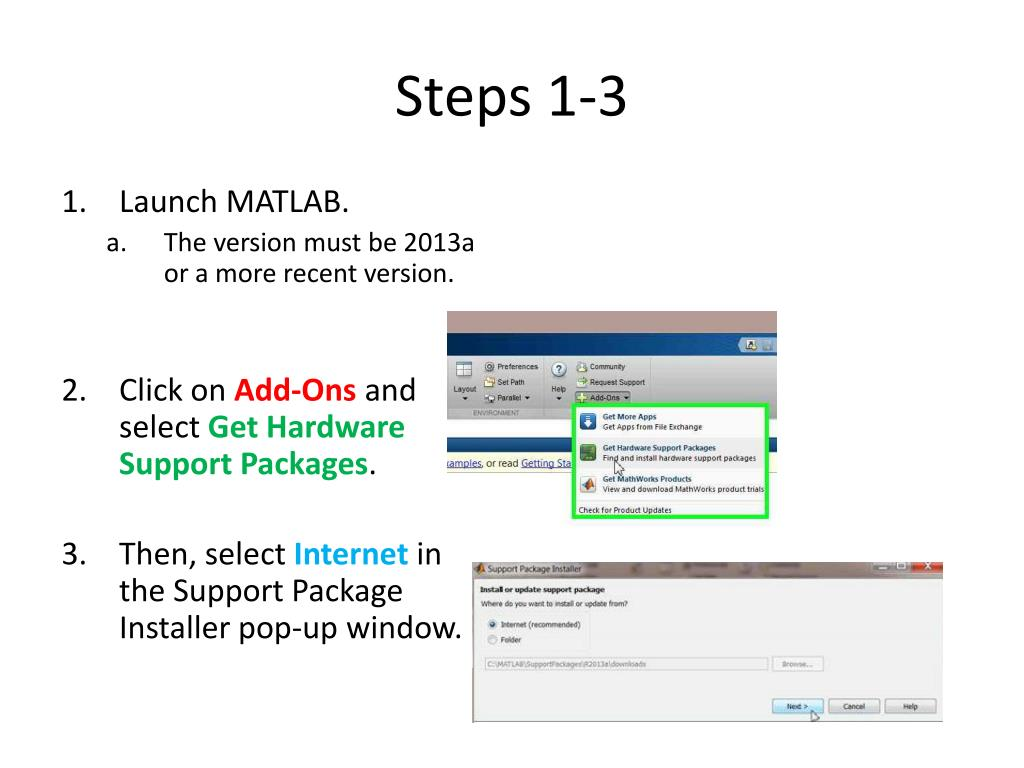 PPT - Installing the MATLAB Add-On PowerPoint Presentation