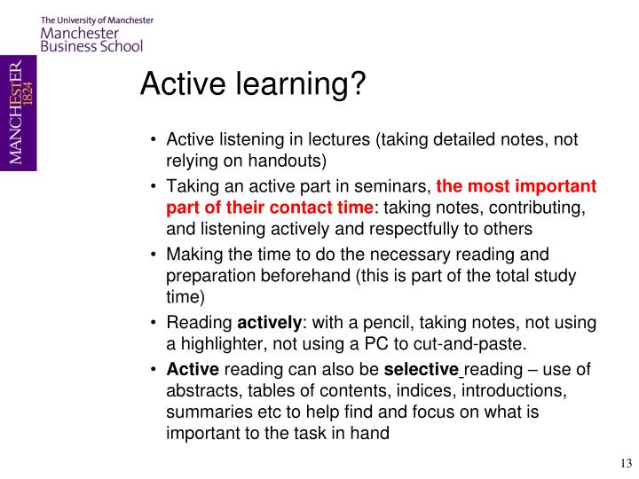 Active learning?
