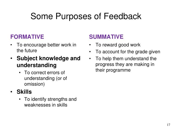 Some Purposes of Feedback