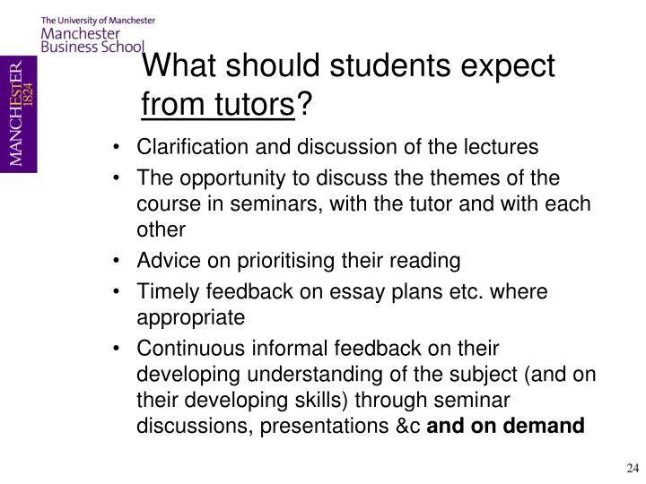 What should students
