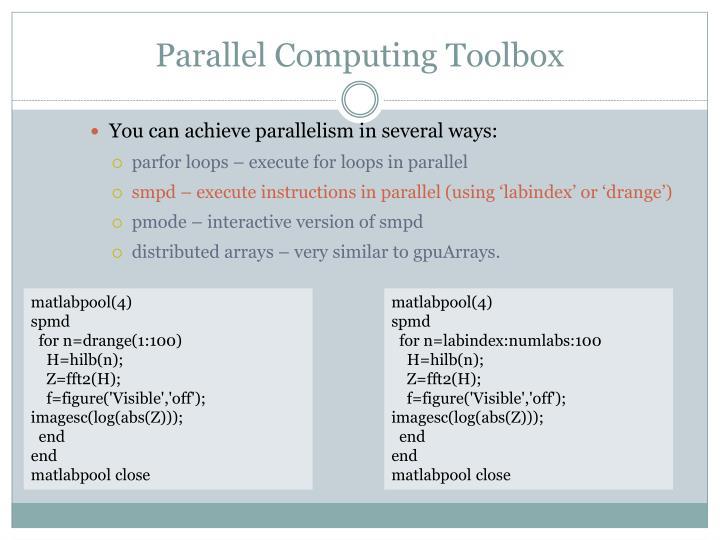 Parallel Computing Toolbox