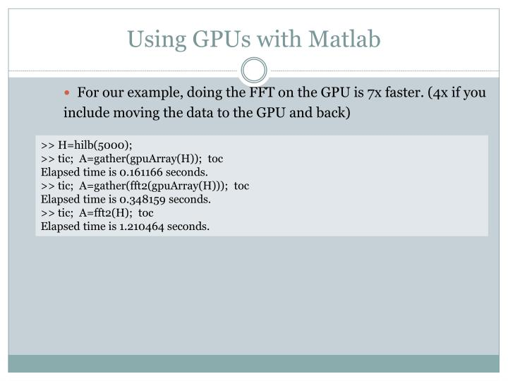 Using GPUs with