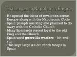 challenges to napoleon s empire