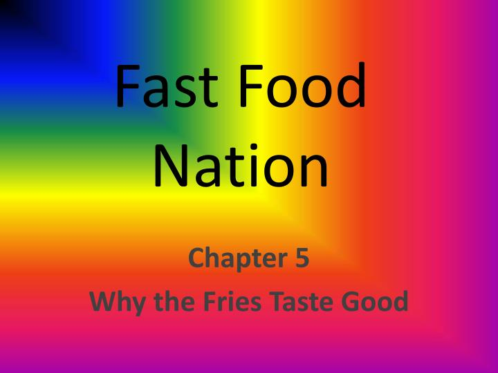 fast food nation chapter one