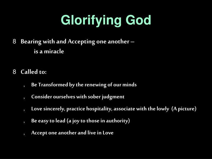 Glorifying God