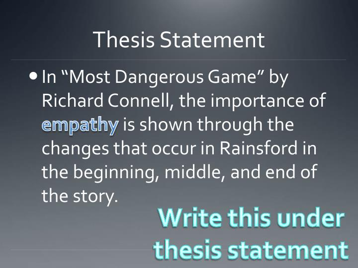 thesis statement game