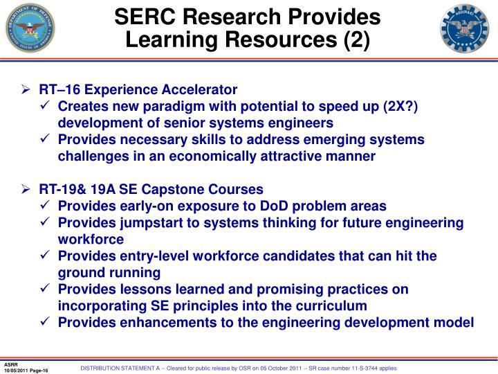 SERC Research Provides
