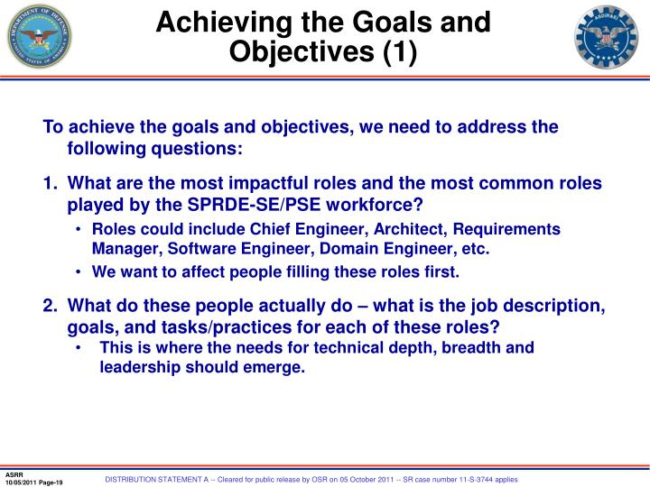 Achieving the Goals and Objectives (1)