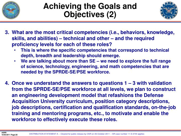 Achieving the Goals and Objectives (2)