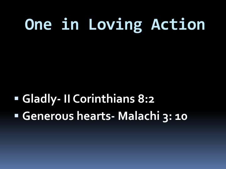 One in Loving Action