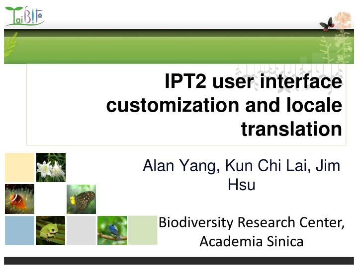 Ipt2 user interface customization and locale translation