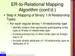 er to relational mapping algorithm cont d3