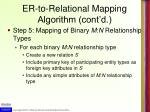 er to relational mapping algorithm cont d5