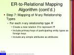 er to relational mapping algorithm cont d7