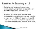 reasons for learning an l2