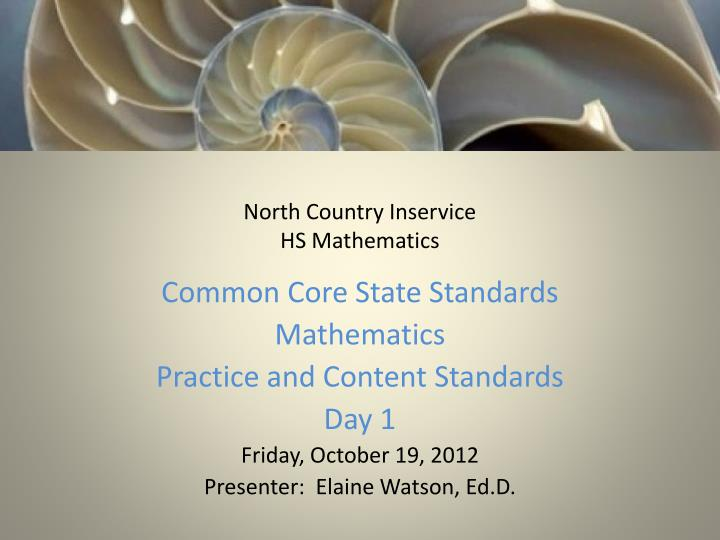 north country inservice hs mathematics n.