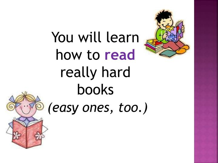 You will learn how to