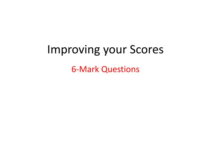 improving your scores n.