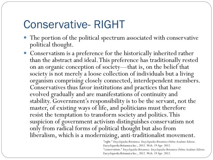 Conservative- RIGHT
