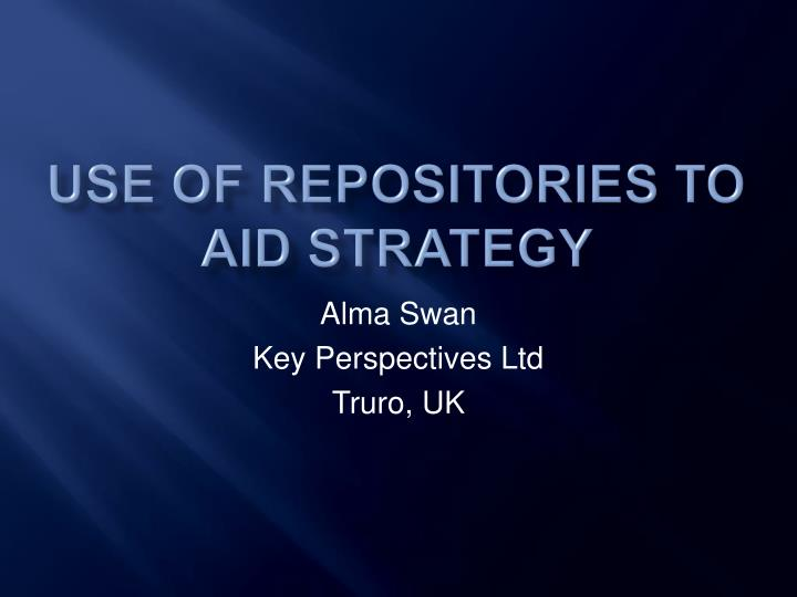 use of repositories to aid strategy n.