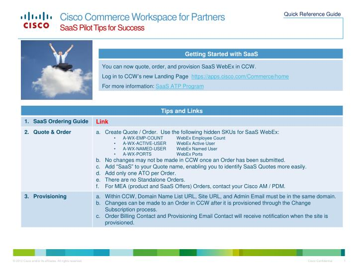cisco commerce workspace for partners saas pilot tips for success n.