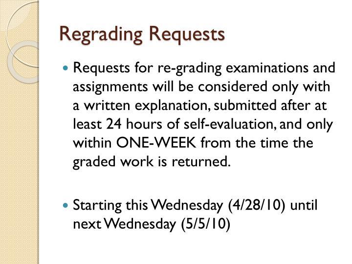 Regrading Requests