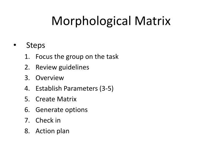 Morphological matrix1