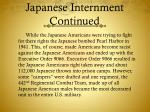 japanese internment continued