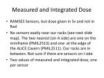 measured and integrated dose