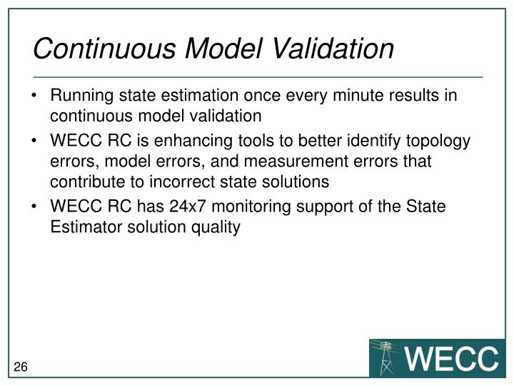 Continuous Model Validation