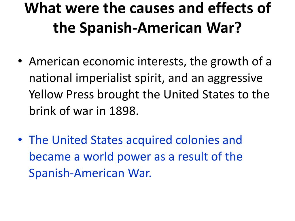 PPT - The Spanish-American War Chapter 18 Section 2 ...