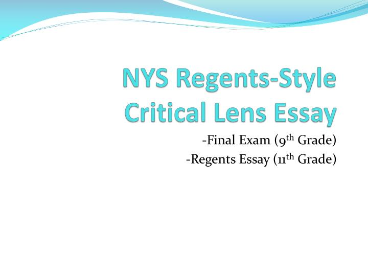 english critical lense essay Follow/fav romeo and juliet critical lens essay by: fiction k - english - tragedy/romance the critical lens is valid because literature shows quick decisions.