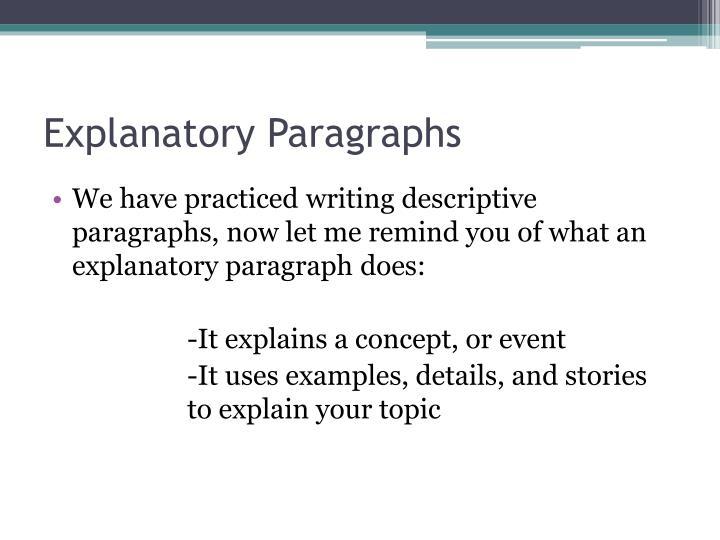 how to write a descriptive paragraph about a place