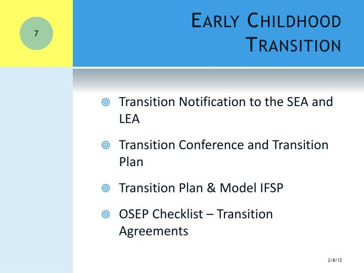 Early Childhood Transition