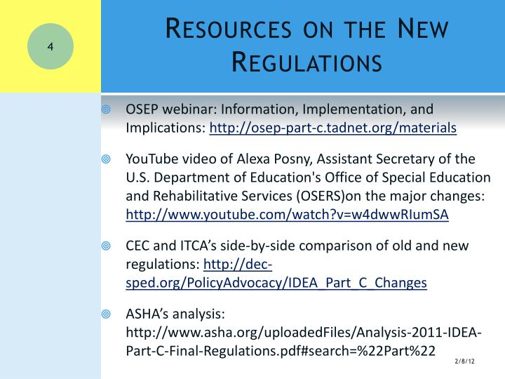 Resources on the New Regulations