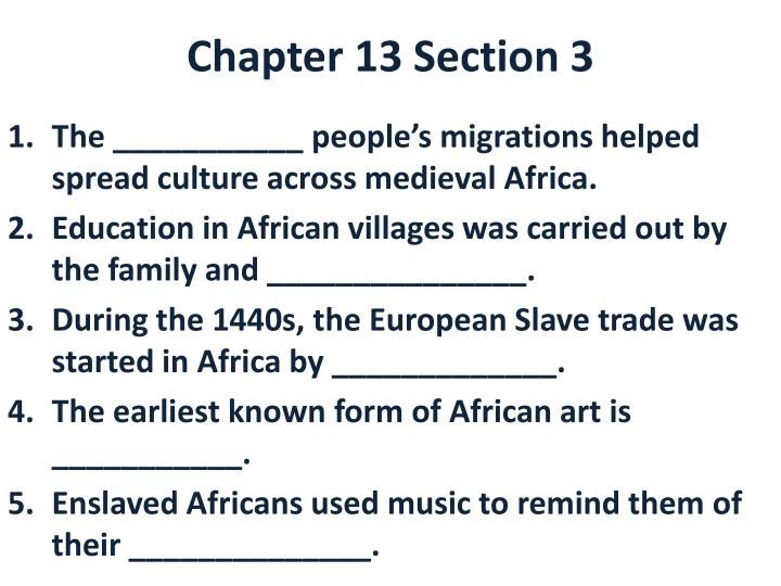 chapter 13 section 3 n.