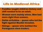 life in medieval africa1