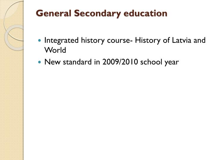 General Secondary education