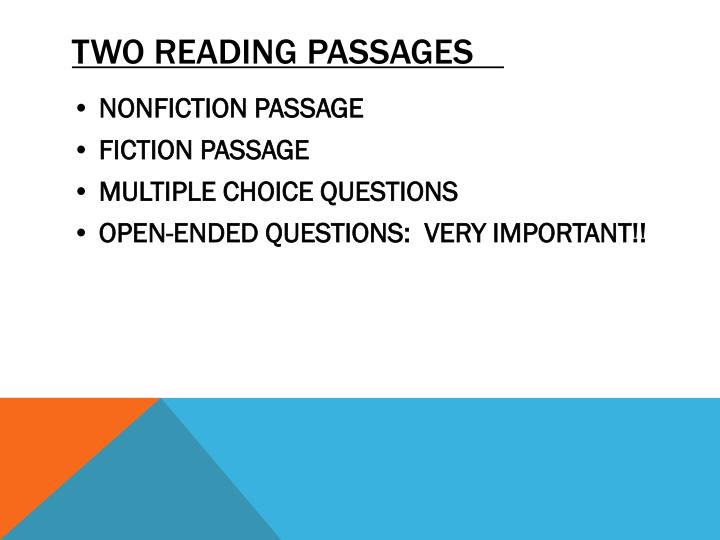Two reading passages