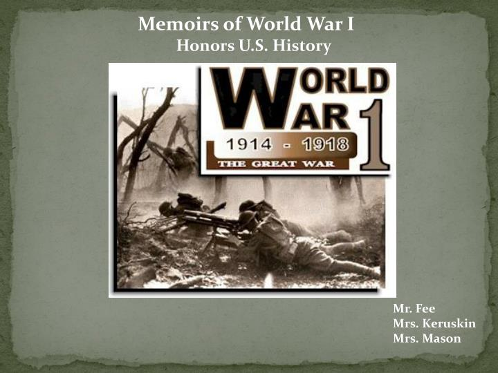 the beauty of world war i