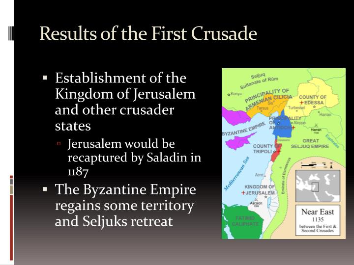 caused first crusade and success What caused the crusades holy land was closed to christians •around 1095 ce, a new group of muslims (seljuk turks) took control of the holy lands.