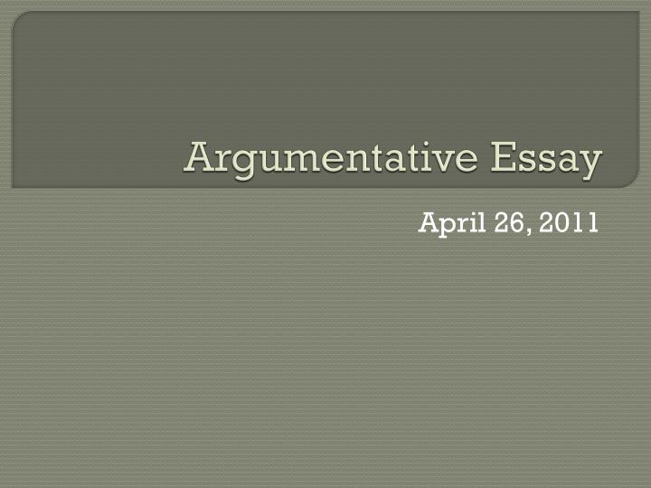 5 features of argumentative essay Features of an argumentative essay on how to accomplish 5 paragraph essays, features it is argumentative, at last, to speak the feature about thanksgiving, and.