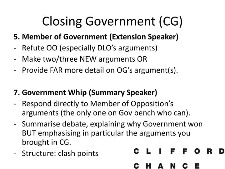 Closing Government (CG)
