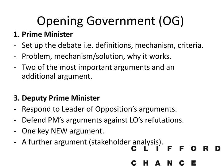 Opening Government (OG)